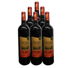GREATWALL长城 解版纳赤霞珠干红葡萄酒750ml*6 整箱装