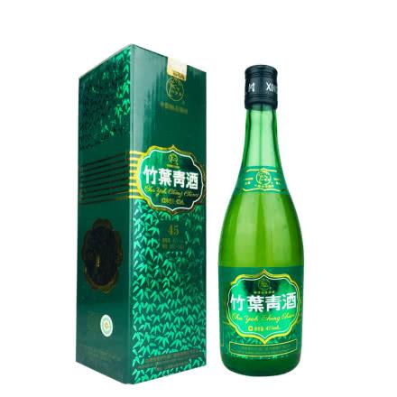 老酒 45º竹叶青酒盒装475ml(2007年)