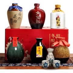 绍兴黄酒六瓶不同味道花雕酒 女儿红手工加饭糯米老酒整箱装礼盒