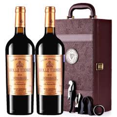 法国进口红酒卡斯特贝桐正牌干红葡萄酒红酒礼盒装750ml*2