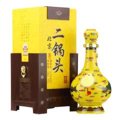 牛栏山二锅头白酒 北京清香型500ml 52度经典黄龙