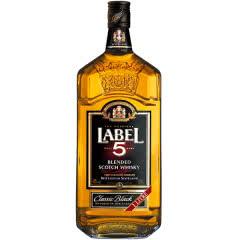 40°英国雷堡五星LABEL5苏格兰威士忌 原装进口1L
