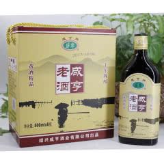 14°绍兴黄酒咸亨老酒十年陈酿半甜型 500ml*6瓶整箱价