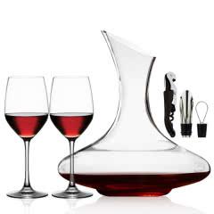 【赠品】斜口醒酒器+红酒杯*2+开瓶器+倒酒器+瓶塞