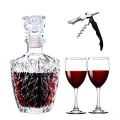 【赠品】欧式方钻醒酒器+红酒杯*2+开瓶器+倒酒器+瓶塞