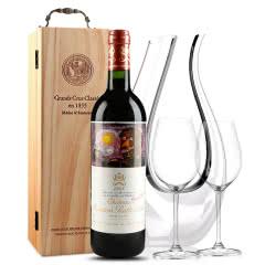 法国原瓶进口红酒 波亚克产区 木桐古堡干红葡萄酒 1998年 木桐正牌 单支 750ml