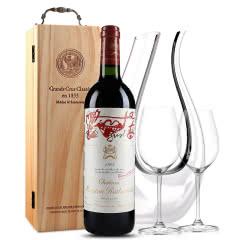 法国原瓶进口红酒 波亚克产区 木桐古堡干红葡萄酒 1995年 木桐正牌 单支 750ml