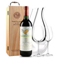 法国原瓶进口红酒 波亚克产区 木桐古堡干红葡萄酒 1999年 木桐正牌 单支 750ml