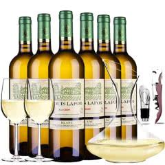 路易拉菲2009伯爵干白葡萄酒6支醒酒器装750ml*6