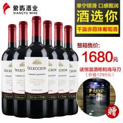 干露酒庄 智选赤霞珠干红葡萄酒750ml*6 智利原瓶进口红酒