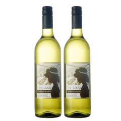澳洲红酒澳大利亚FineLady芳莱迪精选莎当妮白葡萄酒750ml,2支装(又名:霞多丽)
