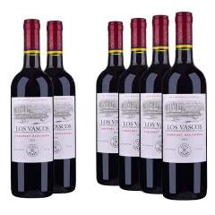 智利拉菲巴斯克卡本妮苏维翁红葡萄酒750ml(6瓶装)(又名:华诗歌)