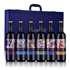 法国茉莉花6大产区AOP干红葡萄酒礼盒套装750ml*6【九周年庆柳岩签名版】