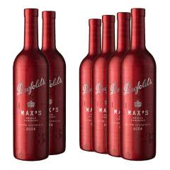 14.5°澳大利亚奔富麦克斯max's西拉赤霞珠干红葡萄酒750ml(6瓶装))