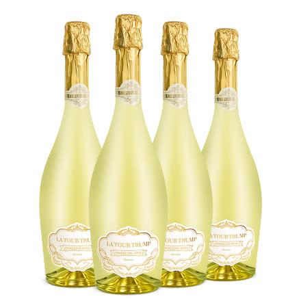 西班牙原酒进口 拉图王牌甜白起泡葡萄酒750ml*4整箱装