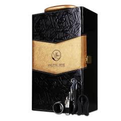 红酒礼盒双支工具黑金礼盒葡萄酒礼盒黑色双支礼盒 (不含酒)通用款