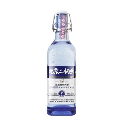 42°华都牌北京二锅头出口型国际方瓶蓝标清香型白酒450ml