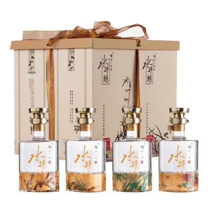 【礼盒】52°水井坊梅兰竹菊礼盒600ml*4