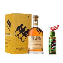 40°英国三只猴子(Monkey Shoulder)洋酒 调和纯麦苏格兰威士忌700ml