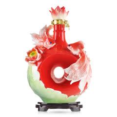 52°北京特产皇家京都莲年有余(红瓷)二锅头酒3L