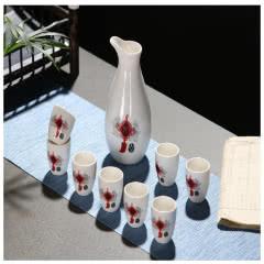 陶瓷酒具套装 酒具周边 白酒酒具 分酒器 酒壶九件套装量酒具 多种款式随机发