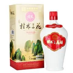 52°桂林特产桂林三花酒珍品瓷瓶装米香型白酒450ml