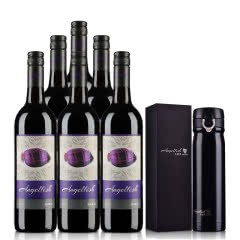 澳大利亚天使鱼珊瑚系列西拉半干红葡萄酒750ml(6支装)+保温杯