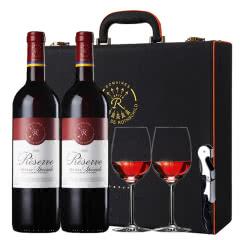 拉菲红酒法国原瓶进口拉菲珍藏梅多克干红葡萄酒红酒礼盒装750ml*2