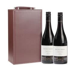 澳大利亚雷施克领航者西拉干红葡萄酒 750ml*2皮质礼盒装