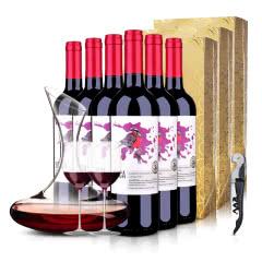 智利原瓶进口红酒百灵鸟赤霞珠珍藏干红葡萄酒750ml*6整箱装