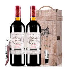 拉斐庄园2009珍藏干红葡萄酒红酒礼盒木盒装750ml*2