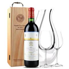 法国原瓶进口红酒 木桐古堡红葡萄酒 1987年 木桐正牌 单支 750ml