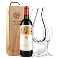 法国原瓶进口红酒 木桐古堡红葡萄酒 1991年 木桐正牌 单支 750ml