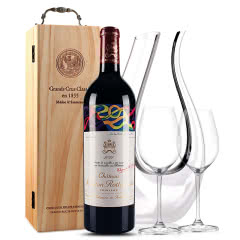 法国原瓶进口红酒 木桐古堡红葡萄酒 2011年 木桐正牌 单支 750ml