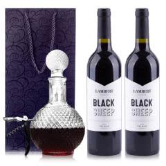 澳大利亚原瓶进口兰伯特黑绵羊赤霞珠干红葡萄酒750ml*2