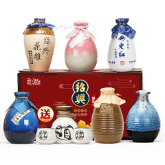 【送酒具】绍兴黄酒六瓶不同风味组合礼盒古越太雕花雕酒