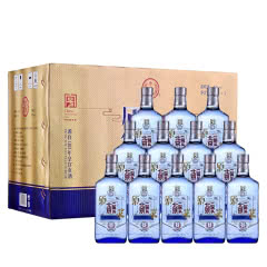 42°北京永丰牌二锅头原浆蓝瓶 清香型白酒 500ml*12瓶整箱(下单得酒具)