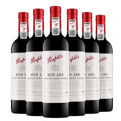 奔富128澳大利亚原瓶进口红酒 奔富酒庄 BIN128红葡萄酒 750ml(6瓶装)