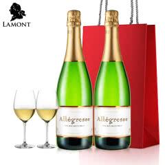 拉蒙 鹊悦 波尔多法国产区 法国原瓶进口 干型起泡酒 气泡酒750ml*2双支