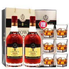 40°法国洋酒(原瓶进口)拿破仑皇冠VSOP白兰地700ml*2瓶 年货礼盒款