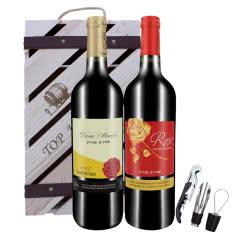 法国(原瓶进口)简爱公主简爱赤霞珠葡萄酒750ml*2送精美木盒