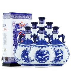 52°北京红星二锅头珍品青花瓷750ml(6瓶装)白酒整箱