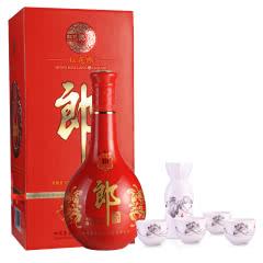 53°郎酒·红花郎十(10)500ml+景德镇荷韵瓷酒器