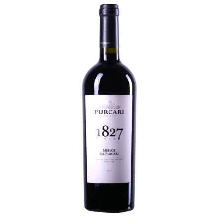 摩尔多瓦红酒 普嘉利(PURCARI)原装进口干红葡萄酒 1827梅洛 750ml 单支