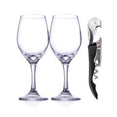 帝豪玻璃红酒杯+酒刀套装