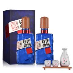 42°洋河特曲(珠光蓝)500ml*2+清酒酒具 雪花梅一壶四杯(含木架)
