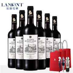 【拉蒙】法国进口红酒波尔多AOC圣亚当伯爵干红葡萄酒整箱装750ml*6
