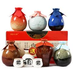 【买赠酒具】绍兴黄酒 六种不同口味花雕酒加饭糯米老酒500mlx6瓶整箱礼盒装米酒送礼包邮