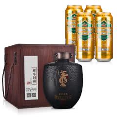 54°董酒尊享封藏大坛1500ml+德国狮虎争霸比尔森啤酒500ml*4