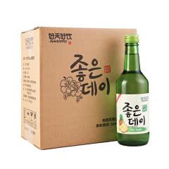 韩国进口好天好饮菠萝味13.5度配制酒360ml*6 整箱装